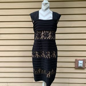 Adrianna Papell Lace Dress Black 14